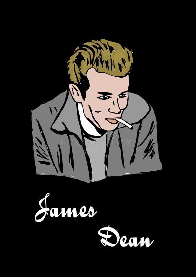 James Dean libre illustration