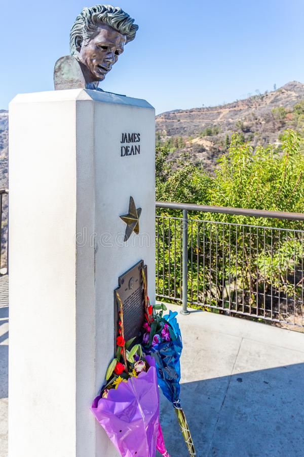 James Dean Memorial imagem de stock royalty free
