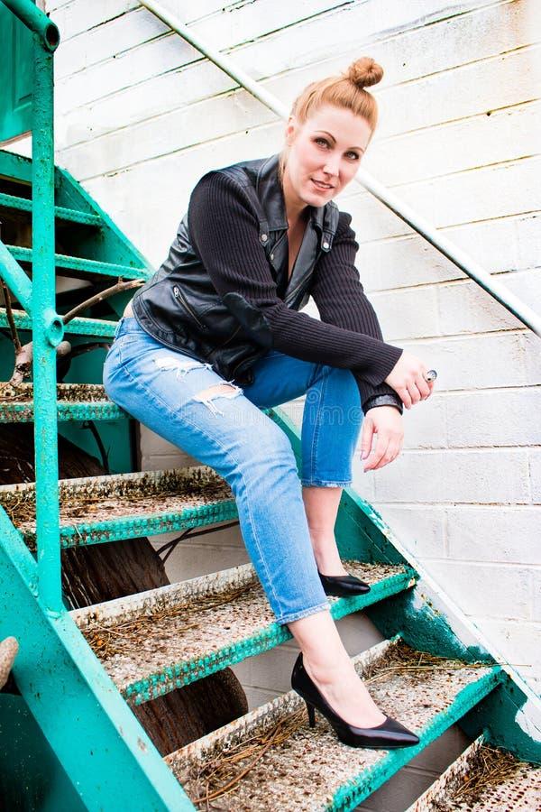 James Dean Woman roux photographie stock libre de droits