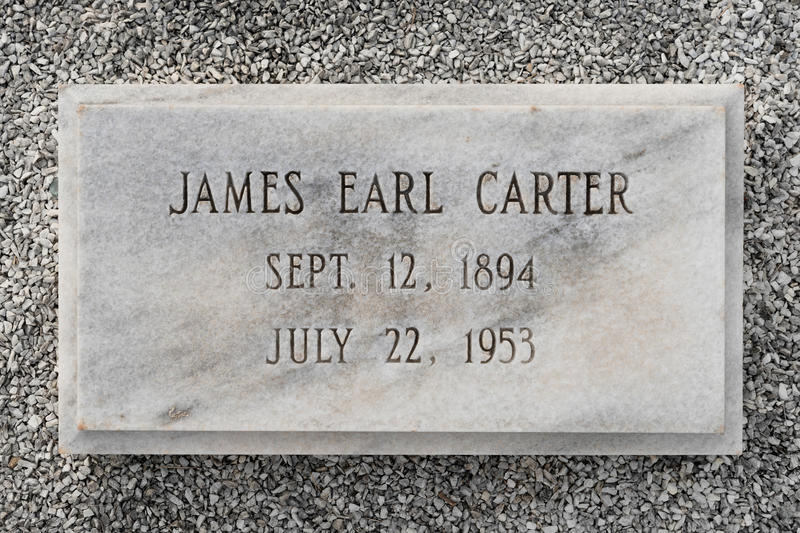 James Earl Carter grav royaltyfria foton