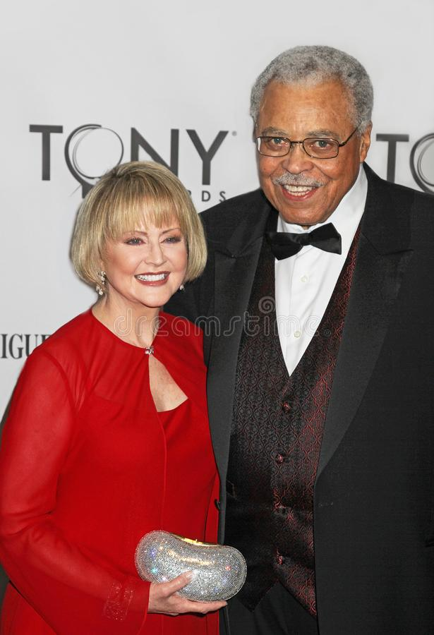 James Earl Jones och Cecilia Hart royaltyfria foton