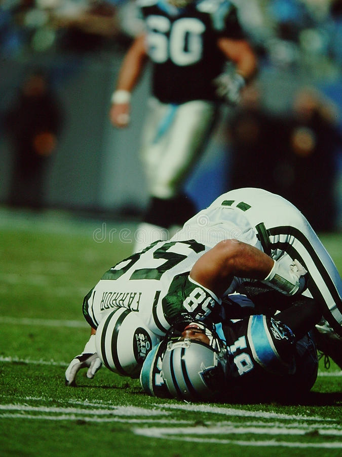 James Farrior New York Jets. Former New York Jets linebacker James Farrior #58. (taken from color slide stock photo