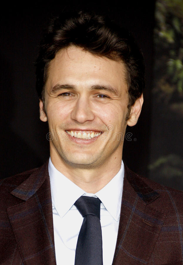 James Franco immagine stock