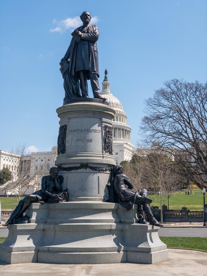 James Garfield - αμερικανικό Capitol κτήριο - Ουάσιγκτον, συνεχές ρεύμα στοκ εικόνα με δικαίωμα ελεύθερης χρήσης