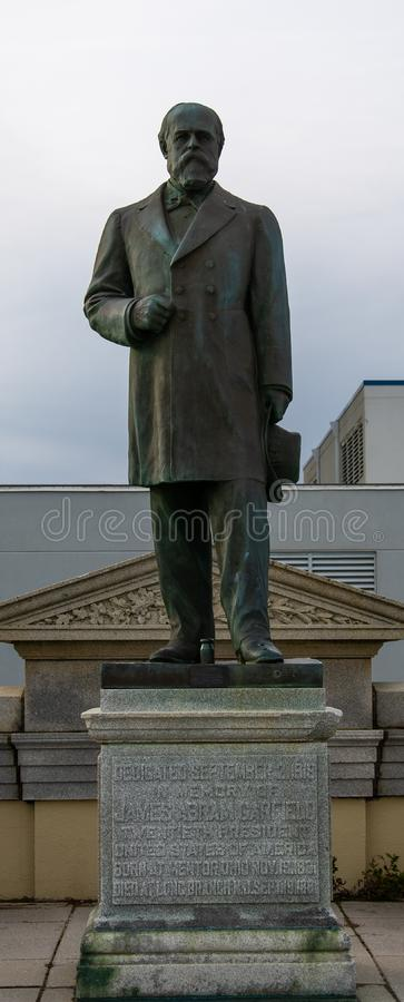James Garfield Statue immagini stock libere da diritti