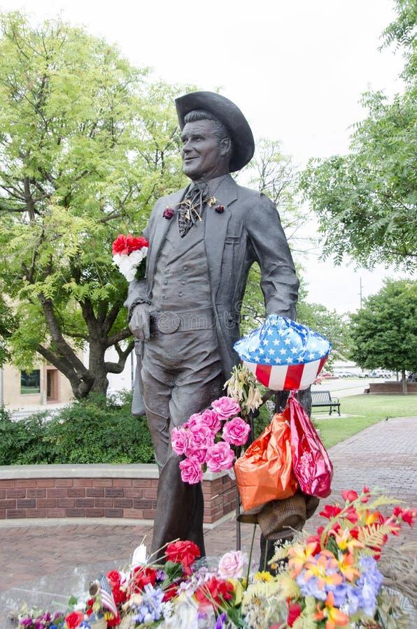 James Garner Statue imágenes de archivo libres de regalías