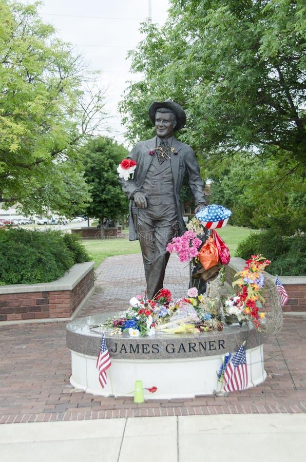 James Garner Statue fotografía de archivo