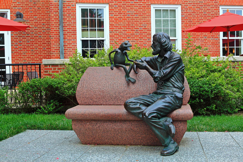 James Henson Muppet. James Henson and Muppet Sculptures in University of Maryland, College Park, Maryland United States royalty free stock image