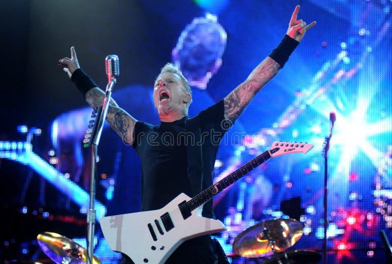 James Hetfield Metallica royaltyfri foto