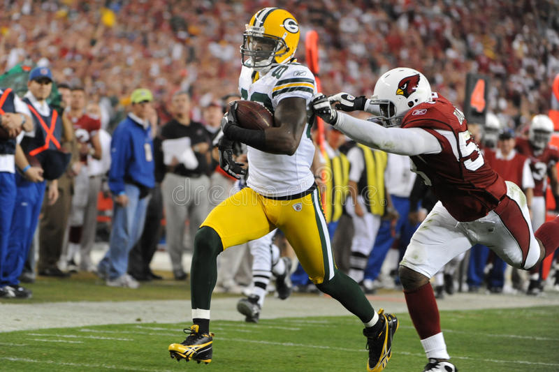 James Jones Wide Receiver para os Green Bay Packers imagens de stock