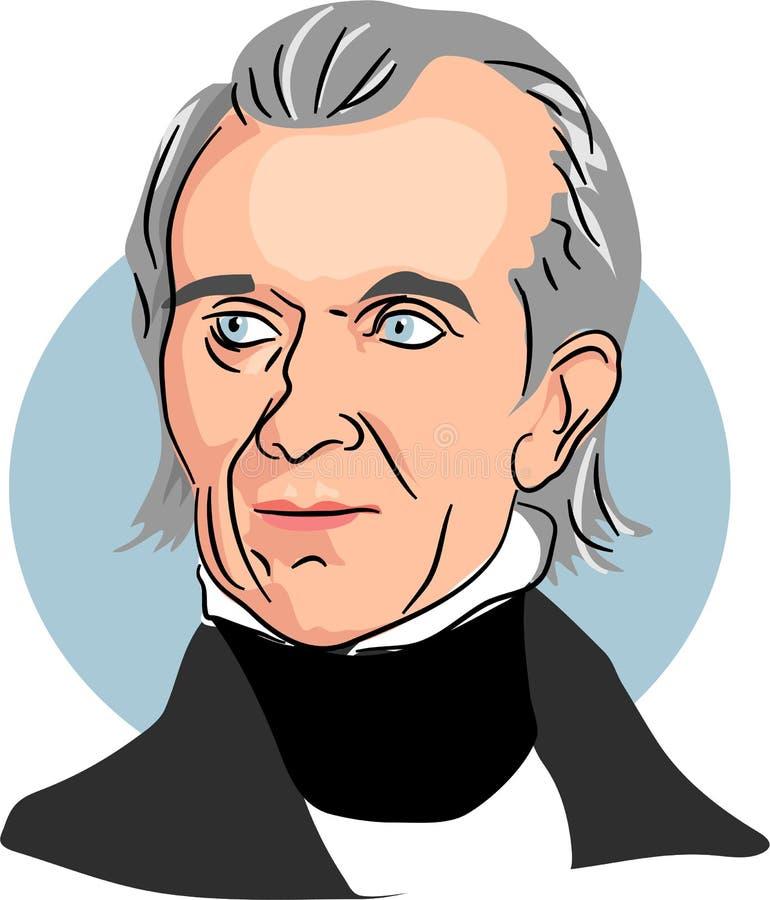 James Knox Polk ilustração royalty free