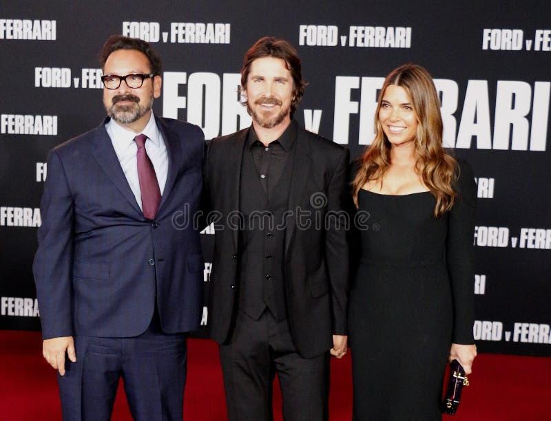 James Mangold, Christian Bale et Sibi Blazic photo libre de droits