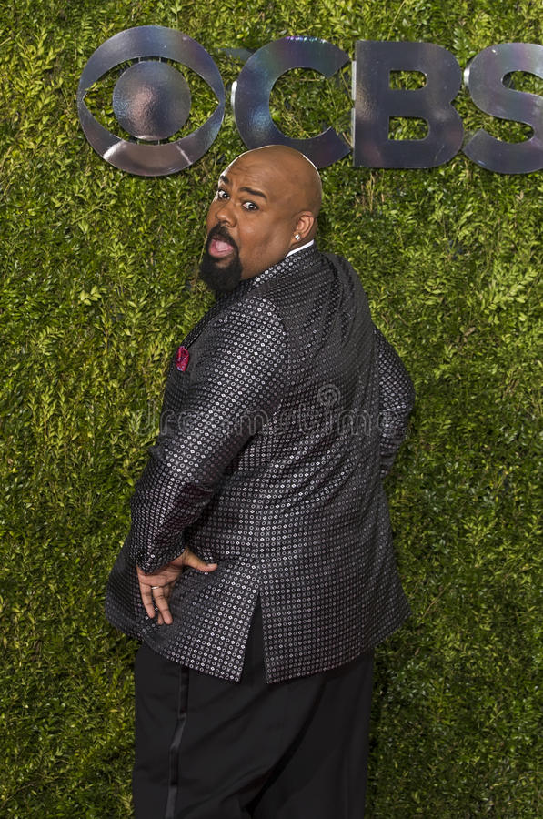James Monroe Iglehart på Tony Awards 2015 arkivbilder