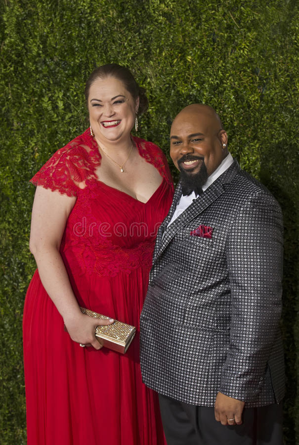 James Monroe Iglehart på Tony Awards 2015 royaltyfri bild