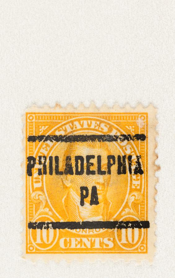 James Monroe op 10 cent Stamp royalty-vrije stock fotografie