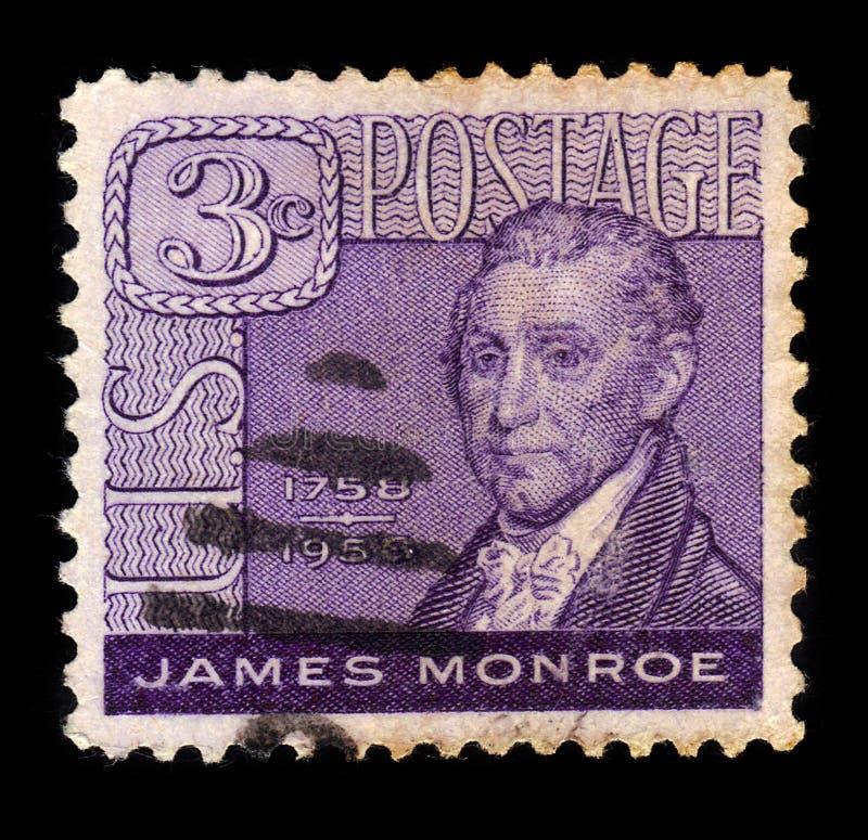James Monroe 1758-1831, 5th President of the U.S. stock image
