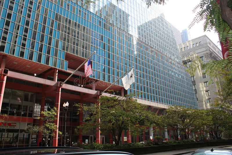 James R Thompson Center oder Staat Illinois, die, Chicago errichten stockbild