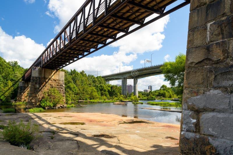 James River en Richmond Va photo stock