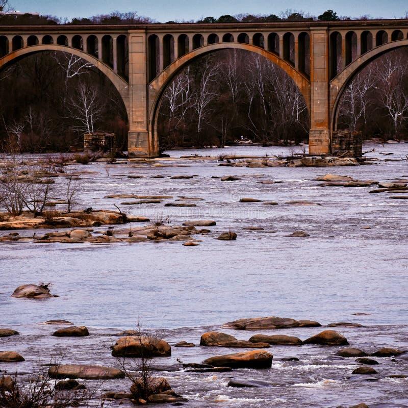 James River Railway Bridge stock afbeelding