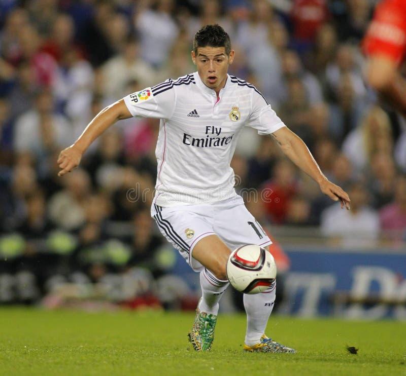 James Rodriguez do Real Madrid imagens de stock