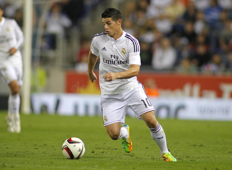 James Rodriguez of Real Madrid royalty free stock photos