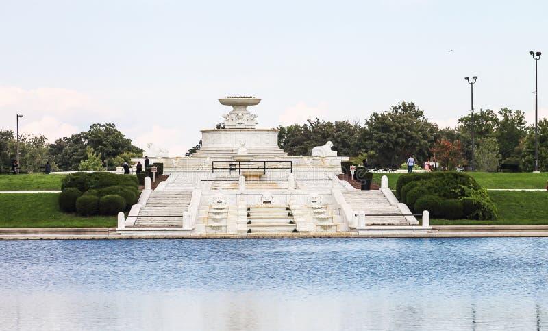 James Scott Memorial Fountain est un monument situé dans Belle Isle Park image stock