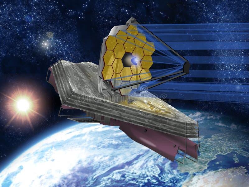 james teleskop kosmiczny webb ilustracja wektor