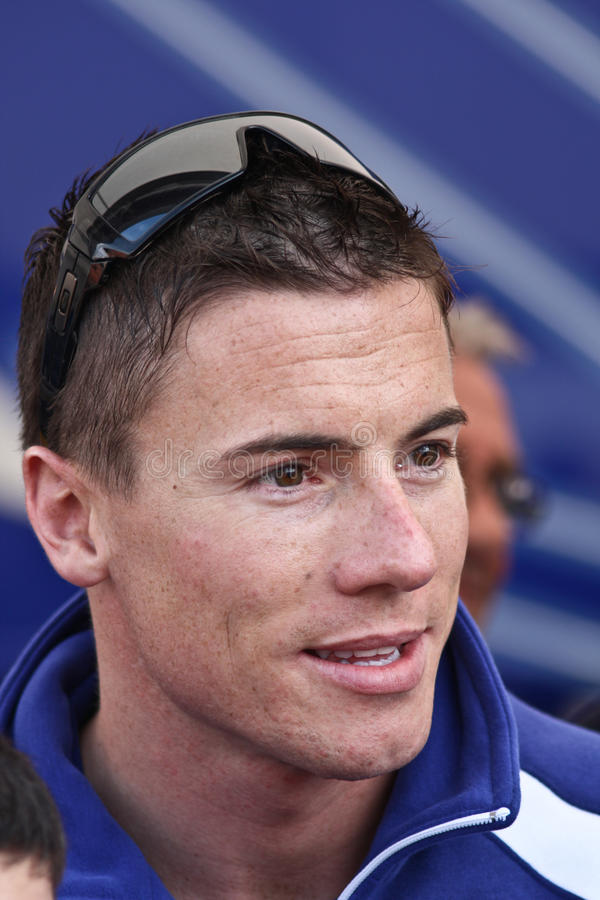 James Toseland Yamaha YZF-R1 stockfoto