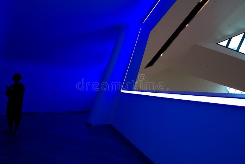 James Turrell Art Installation at The Shops at Crystals stock photo