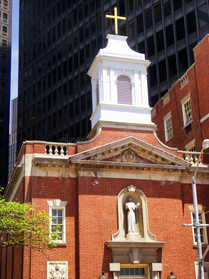 The James Watson House. At 7 State Street between Pearl and Water Streets in the Financial District of Manhattan, New York City United States stock photo