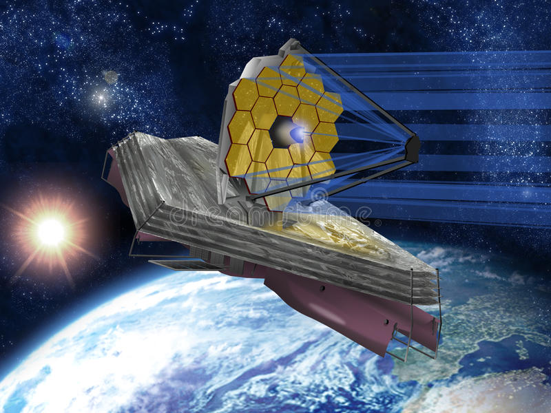 The James Webb Space Telescope's Amazing Multiple Mirrors ... |James Webb Telescope Drawing