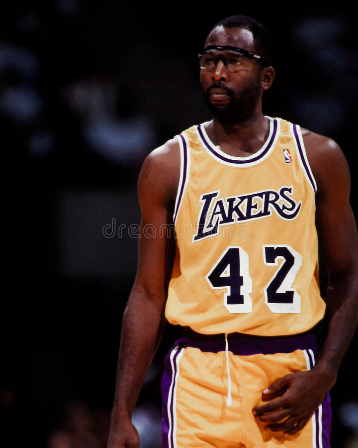 James Worthy, Los Angeles Lakers immagine stock