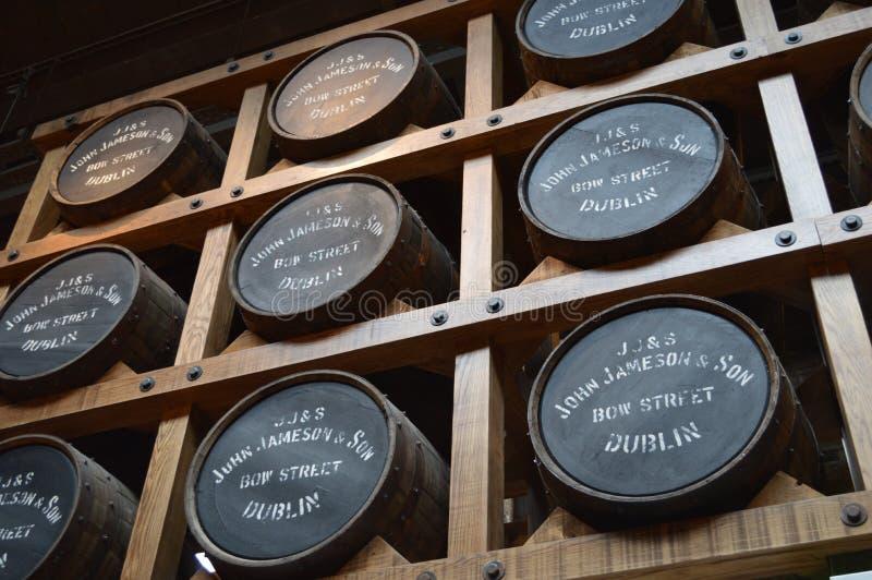 Jameson Distillery i Dublin royaltyfri bild