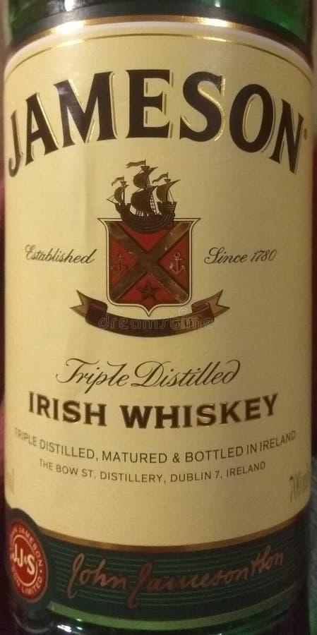 Jameson Irish Whiskey royaltyfri fotografi