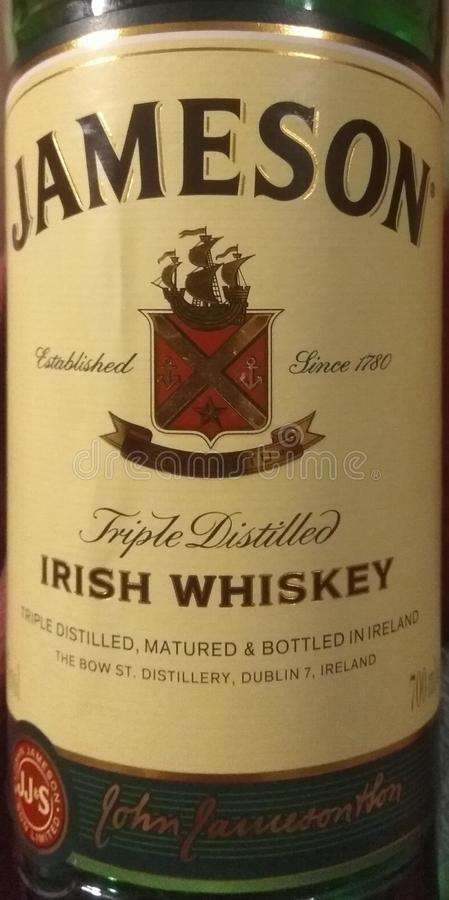 Jameson Irish Whiskey fotografia de stock royalty free
