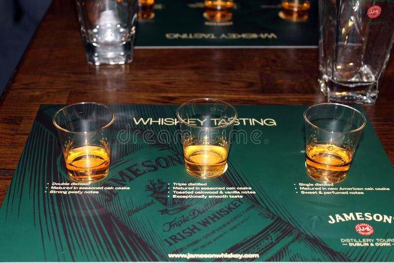 Jameson whiskey distillery and museum in Dublin. Dublin is a famous old town in Ireland and Jameson is a famous whiskey producer stock photo
