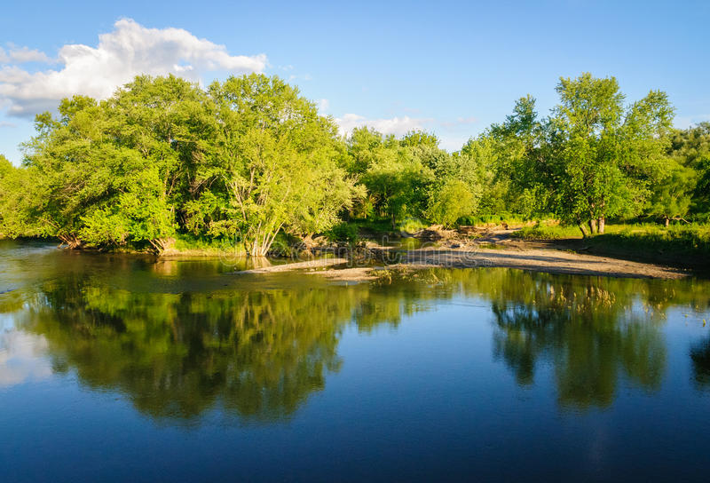 Jamestown Audubon mitt och fristad royaltyfri fotografi