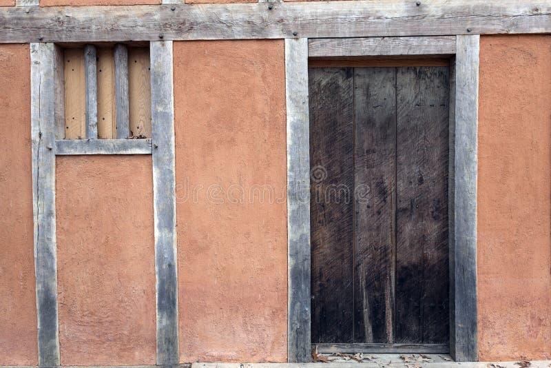 Jamestown - casa histórica imagem de stock