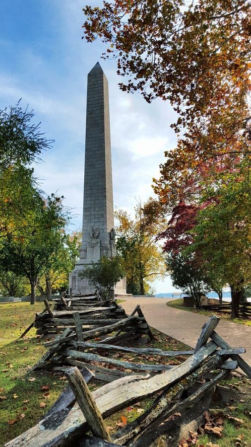 Jamestown histórico Virgínia na queda imagens de stock