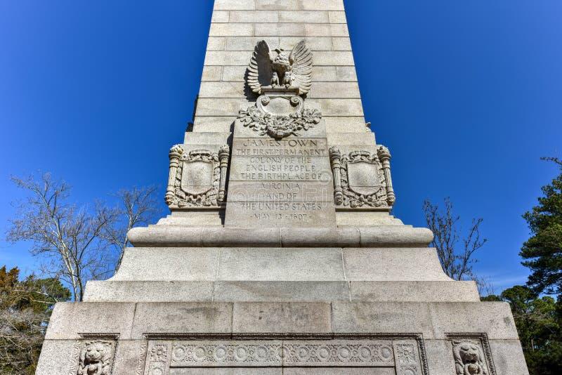 Jamestown nationell historisk plats royaltyfria bilder