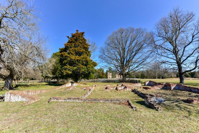 Jamestown nationell historisk plats royaltyfria foton