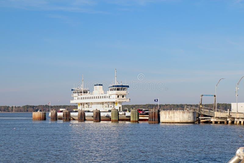 Jamestown-Schotland Veerboot Pocahontas in Surrey, Virginia royalty-vrije stock foto