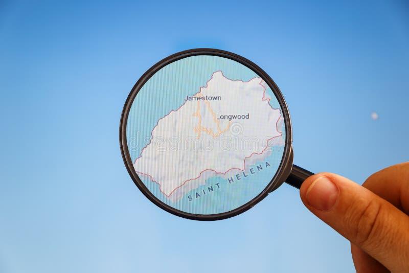 Jamestown, St Helena mapa pol?tico imagens de stock