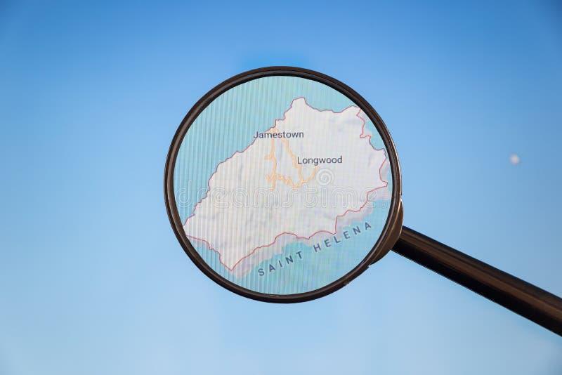 Jamestown, St.Helena politieke kaart royalty-vrije stock fotografie
