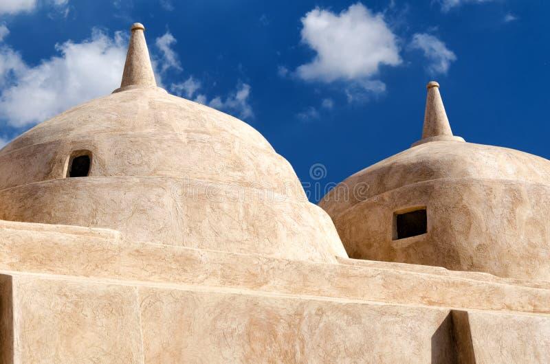 Jami al-Hamoda Mosque in Jalan Bani Bu Ali, sultanato dell'Oman immagine stock libera da diritti