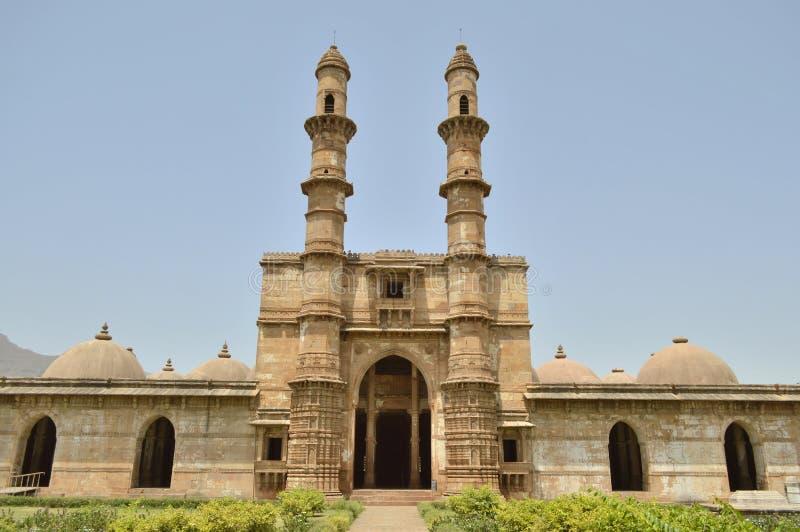 Jami Masjid, chapaner, Gujarat (meczet) fotografia stock
