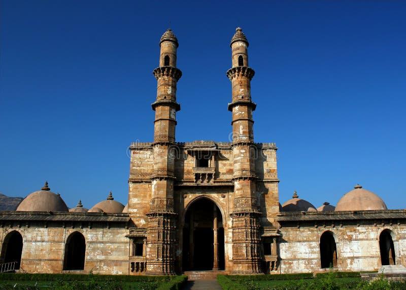 Jami Mosque, Champaner, Gujarat royalty-vrije stock foto's