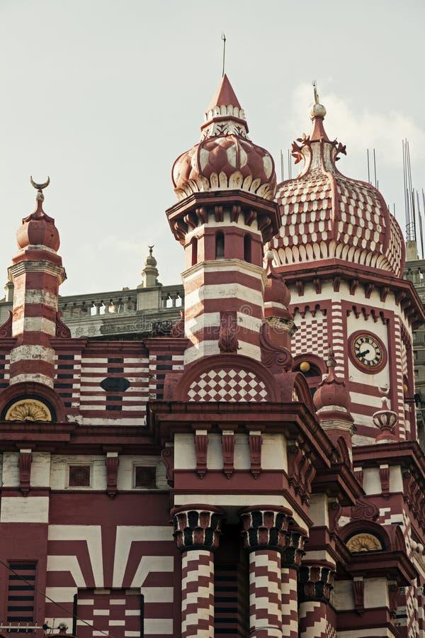 Jami Ul Alfar meczet w Kolombo zdjęcie stock