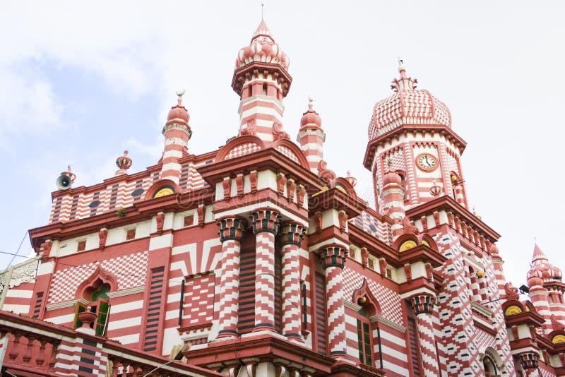 Jami-UL-Alfar moschea, Colombo, Sri Lanka fotografia stock