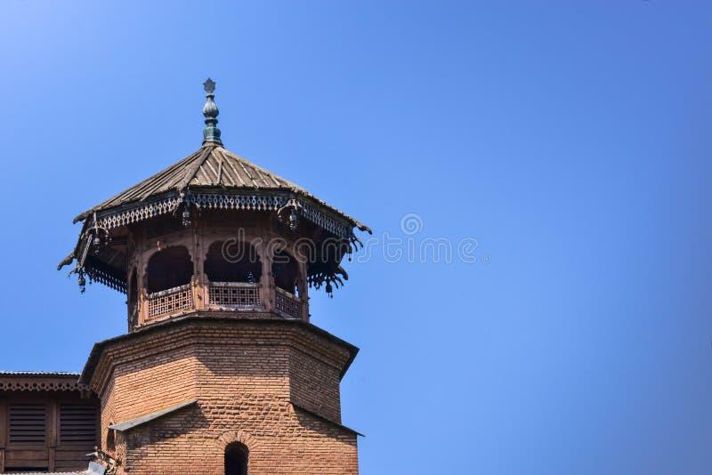 Jamia masjid在斯利那加,印度 库存照片